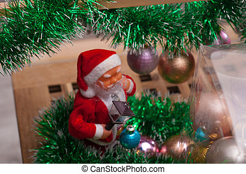 Happy Santa Claus Doll on Christmas time,