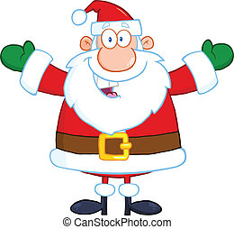 Santa Claus With Open Arms