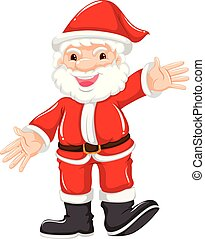 Happy santa in red suit