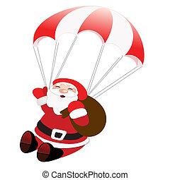 happy santa - illustration
