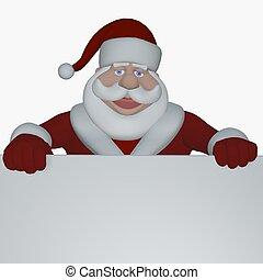 happy santa - 3d render
