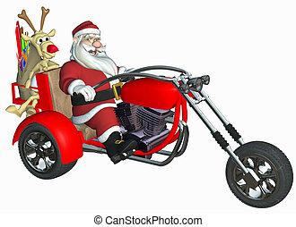 happy santa - 3d