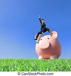Happy Saving Money