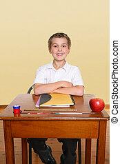 Happy school student
