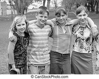 school teens - happy school teens