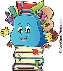 Happy schoolbag topic image 3 - eps10 vector illustration.