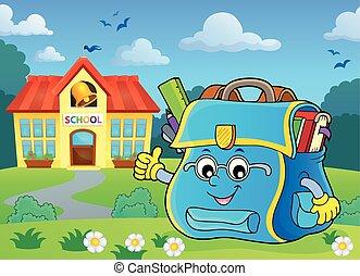 Happy schoolbag topic image 6 - eps10 vector illustration.