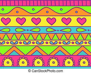 Happy seamless pattern