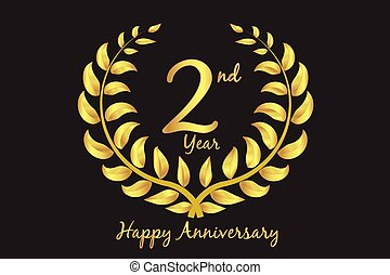 Happy second anniversary vector