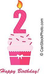Happy Second Birthday Anniversary card