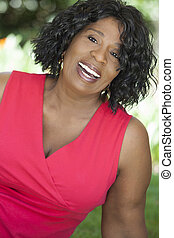 Happy Senior African American Woman