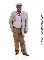 senior african man - happy senior african man isolated on...