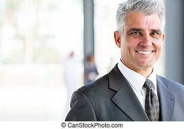 happy senior business man - portrait of happy senior...
