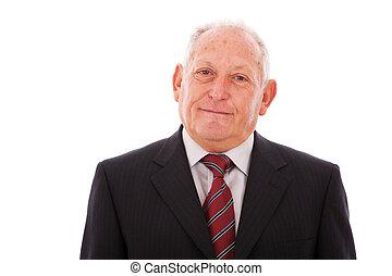 Happy senior businessman
