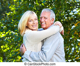 Happy senior couple.