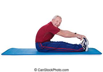 Senior Man Stretching His Legs
