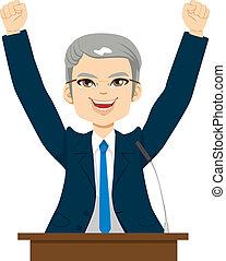 Happy Senior Politician Man
