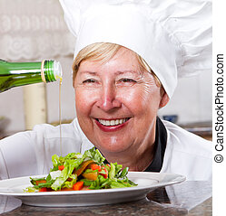 senior professional chef