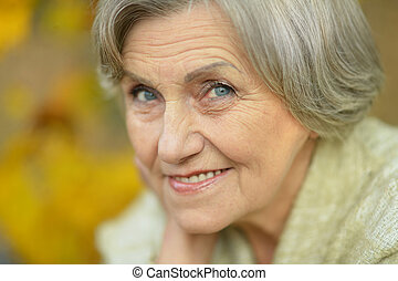 Happy Senior woman - Portrait of a happy Senior woman in...