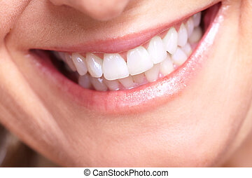 Happy senior woman smile. Dental health.