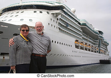 Ready for Another Cruise - Happy Seniors Ready for Another ...