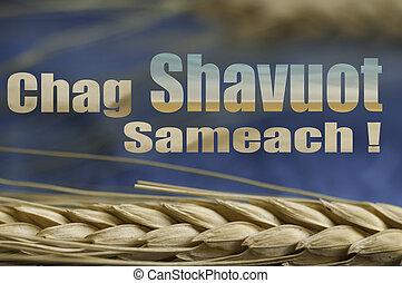 Happy Shavuot, jewish greeting, background