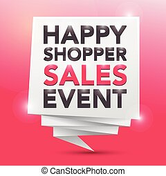 HAPPY SHOPPER SALES EVENT, poster design element