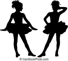 Happy silhouette children