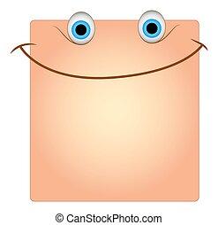 Happy Smile Face Box Smiley Vector