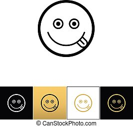Happy smile logo or joy smiling vector icon