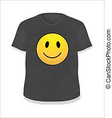 Happy Smiley Black T-Shirt