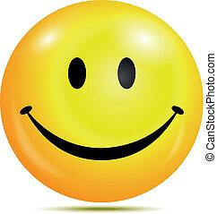 Happy smiley emoticon - Vector illustration of Happy smiley...
