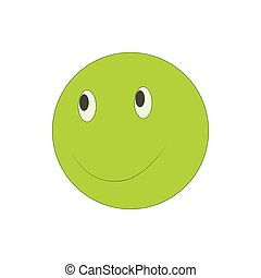 Happy smiley emoticon icon, cartoon style