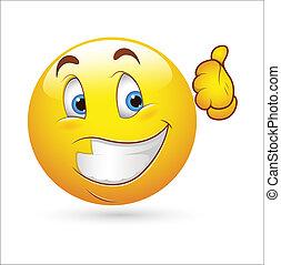 Happy Smiley Expression Icon - Creative Abstract Conceptual...