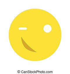 Happy smiley face emoticon icon