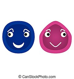 Happy smiley face icons