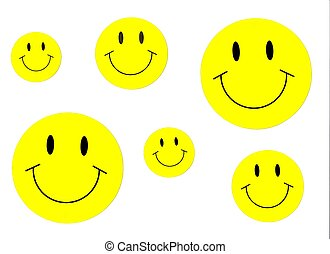 Hapy Yellow Smiley Faces Background