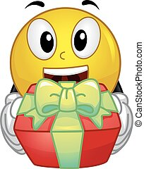 Happy Smiley Give Gift