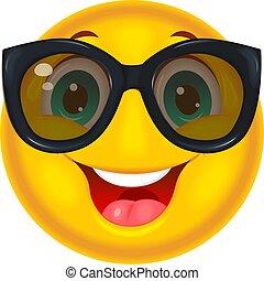 Happy smiley in sunglasses