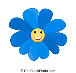 Happy Smiley Sunflower