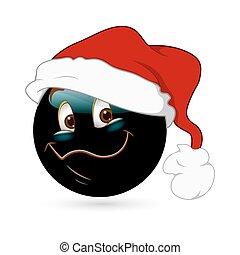 Happy Smiley with Santa Cap
