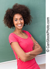 happy smiling African American woman