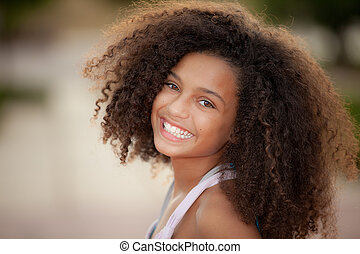 african descent child - happy smiling african descent child ...