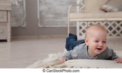 Happy smiling baby