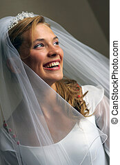 Happy Smiling Beautiful Bride