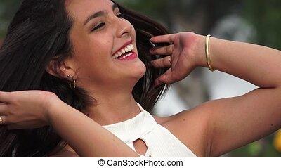 Happy Smiling Beautiful Female Teen