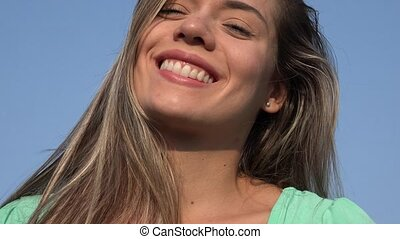Happy Smiling Blonde Woman