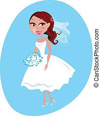 Happy smiling Bride illustration