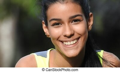 Happy Smiling Christian Teen Female