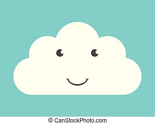 Happy smiling cloud character